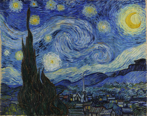 Is it sad that Van Goh's asylum view looks like an amazing vacay spot to me? Starry Night by Vincent Van Gogh (public domain)