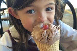 She really loves ice cream.