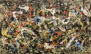 Upper right hand corner represents paying bills online, see it? Convergence by Jackson Pollock (Image property of the Albright-Knox Art Gallery, Buffalo, NY.)