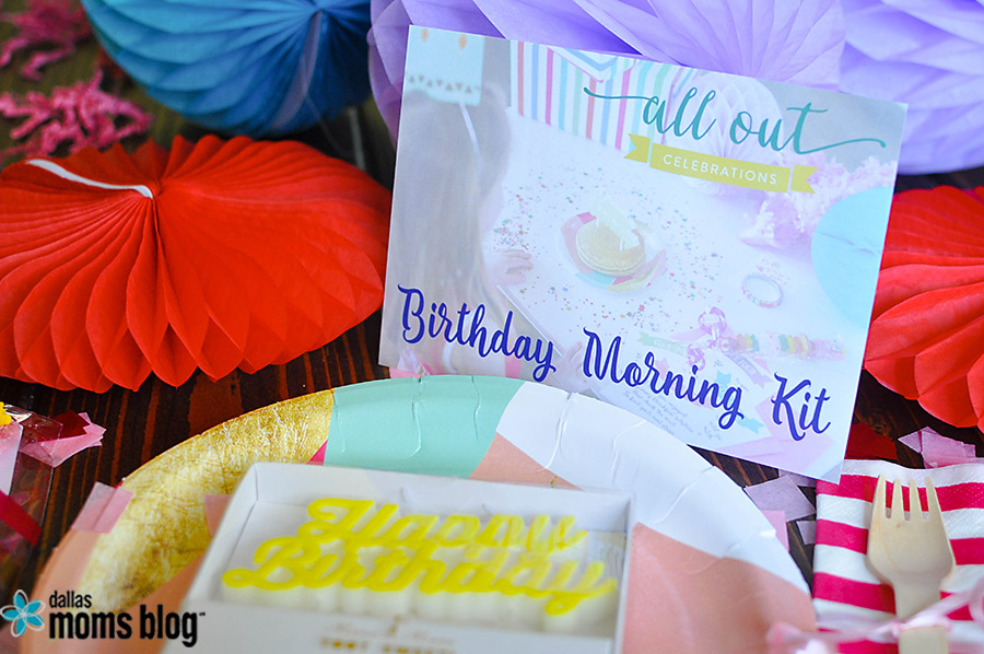 All Out Celebrations Birthday Morning Kit | Dallas Moms Blog