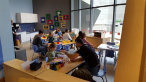 Craft time at the Perot Museum of Nature and Science