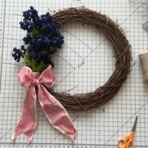 Bluebonnet 4th of July wreath