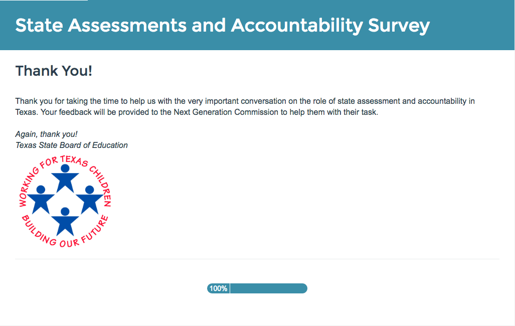 Completed SBOE Survey