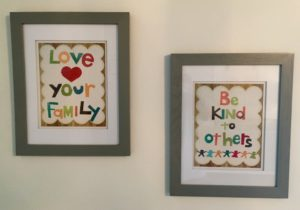 Hanging in our daughter's nursery...