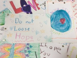 A Volunteer project from Camp Kindness, these were sketchbooks the kids made for homeless children.