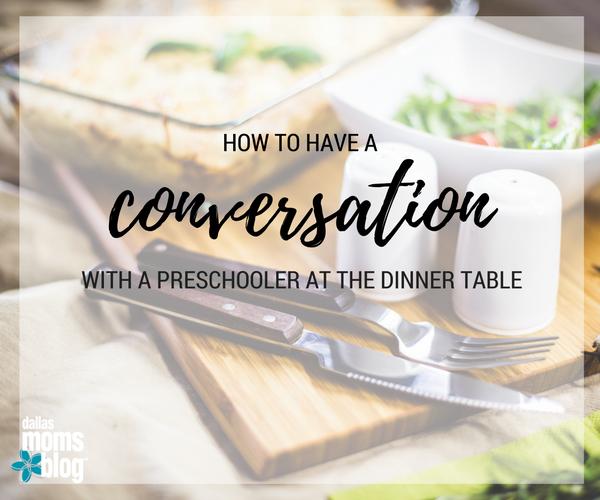 DINNER CONVERSATIONS PRESCHOOLER