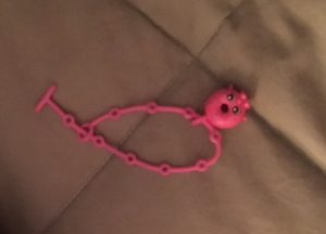 Seriously, this Shopkins bracelet fell out of my bra at the end of the day... how did I not notice that?!