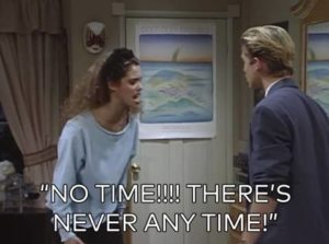 Too much pressure = the infamous Jessie Spano meltdown