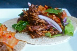 Korean Pork Tacos featured on Recipost from The Defined Dish. Don't they look yummy?!