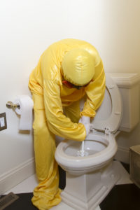 hazmat, cleaning toilet