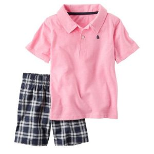 Carter's Short Sleeve Pink Polo