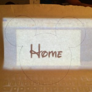 Trace Your Freezer Paper Shirt Stencil