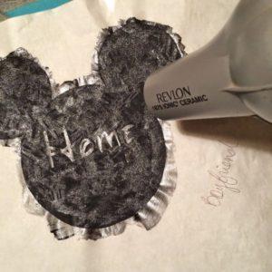 Let Your Freezer Paper Shirt Stencil Dry