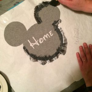 Paint Your Freezer Paper Shirt Stencil