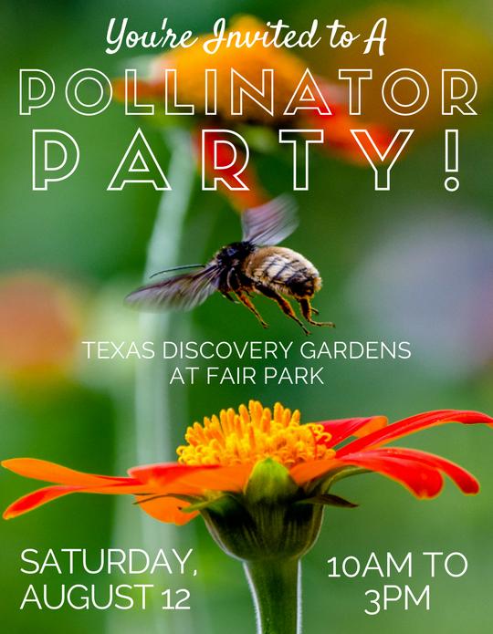 Texas Discovery Gardens Pollinator Party