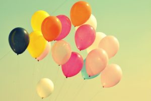 birthday gift balloons