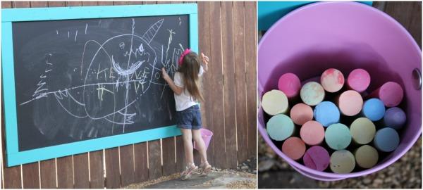 backyard chalkboard easy tutorial