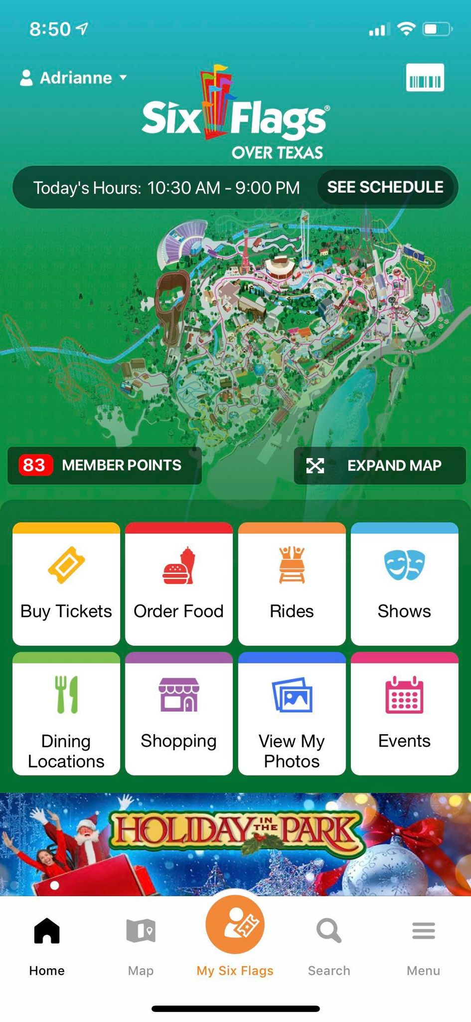 Six Flags Mobile App