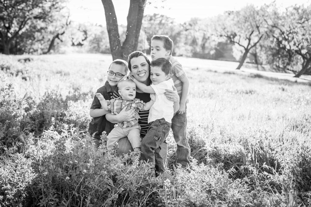 family, black & white