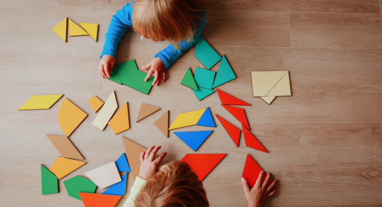 Puzzles for Toddlers & Preschoolers {And an Organization Station}