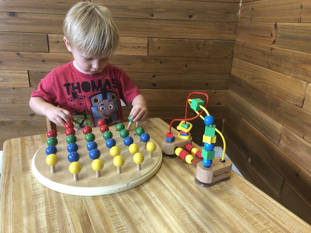 wooden peg toddler puzzle