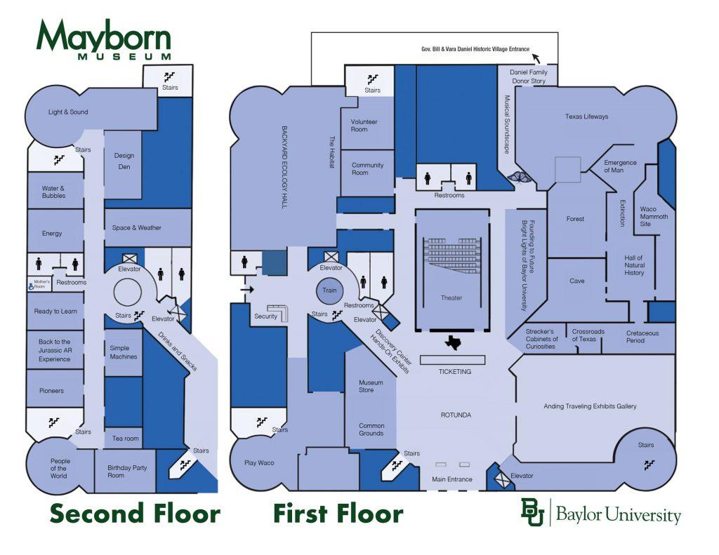 Mayborn Museum Waco Map