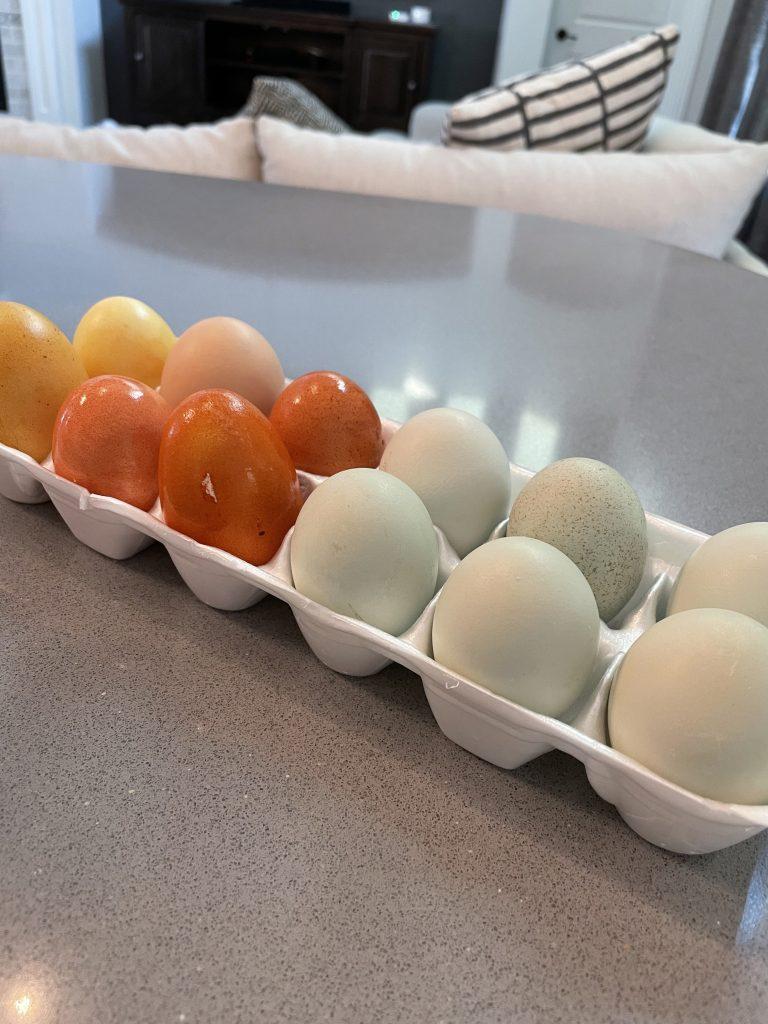 naturally dye Easter eggs