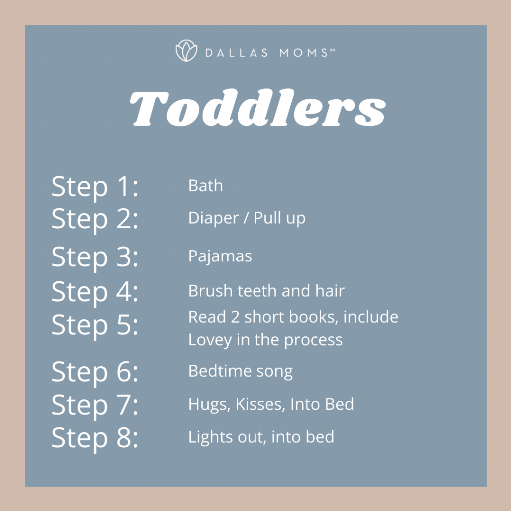 Dallas Moms Bedtime Routine for Toddlers
