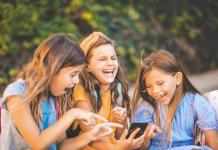 kids watching video